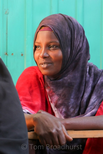 Young woman in Ethiopia's Somali region participating in numeracy and literacy classes, organised by Pastoralist Concern and Oxfam Intermón, Such programmes give many Somali women their first experience of formal education. Copyright Tom Broadhurst.