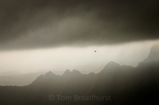 Moody skies typify rainy season (July-August) in Ethiopia's Simien Mountains. Copyright Tom Broadhurst.