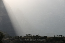 Moody light near Chenek campsite, Ethiopia's Simien Mountains. Copyright Tom Broadhurst.