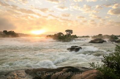 The River Nile at sunrise, Uganda. Copyright Tom Broadhurst.